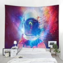 Galaxy Astronaut Pattern Tapestry