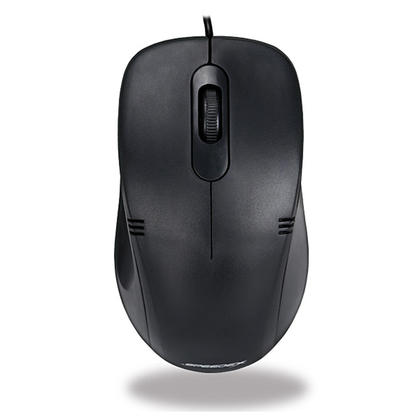 Speedex Wired USB 2.0 Office Optical Mouse, 1000DPI - Black