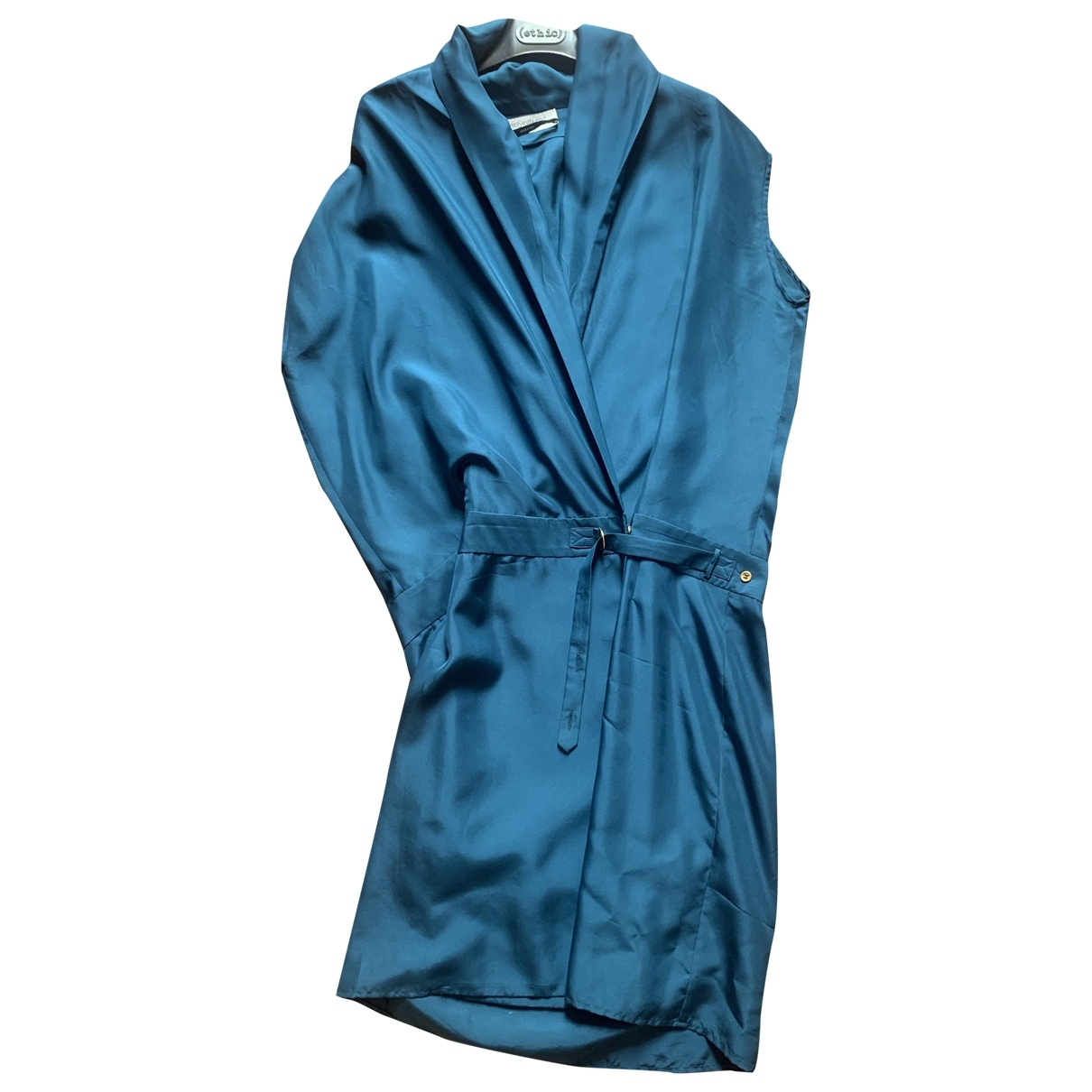 Yves Saint Laurent \N Kleid in  Blau Seide