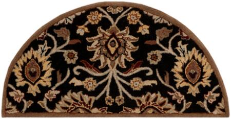 Caesar CAE-1053 2' x 4' Hearth Traditional Rug in Black  Camel  Garnet  Tan  Khaki  Burnt