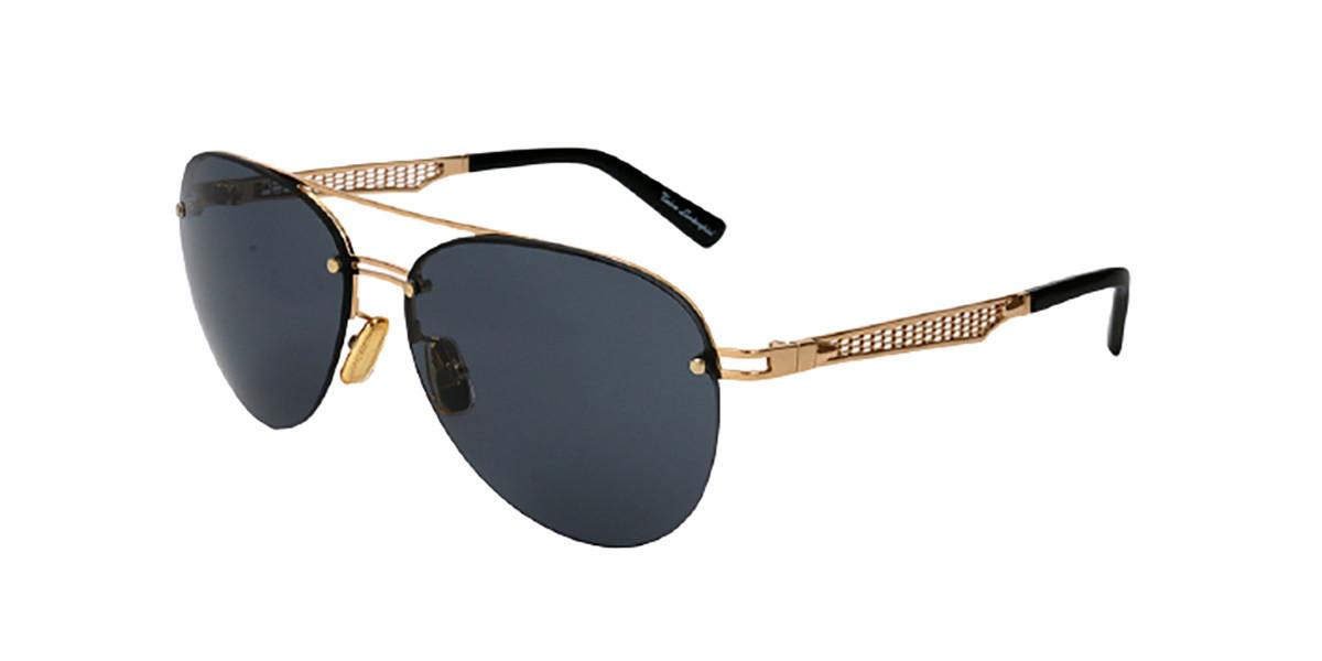 Tonino Lamborghini GRID TL603S S01A Men's Sunglasses Gold Size 61