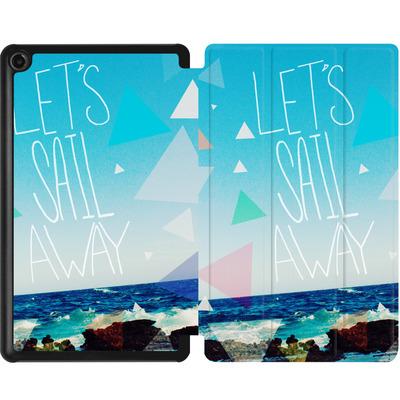 Amazon Fire 7 (2017) Tablet Smart Case - Lets Sail Away von Leah Flores