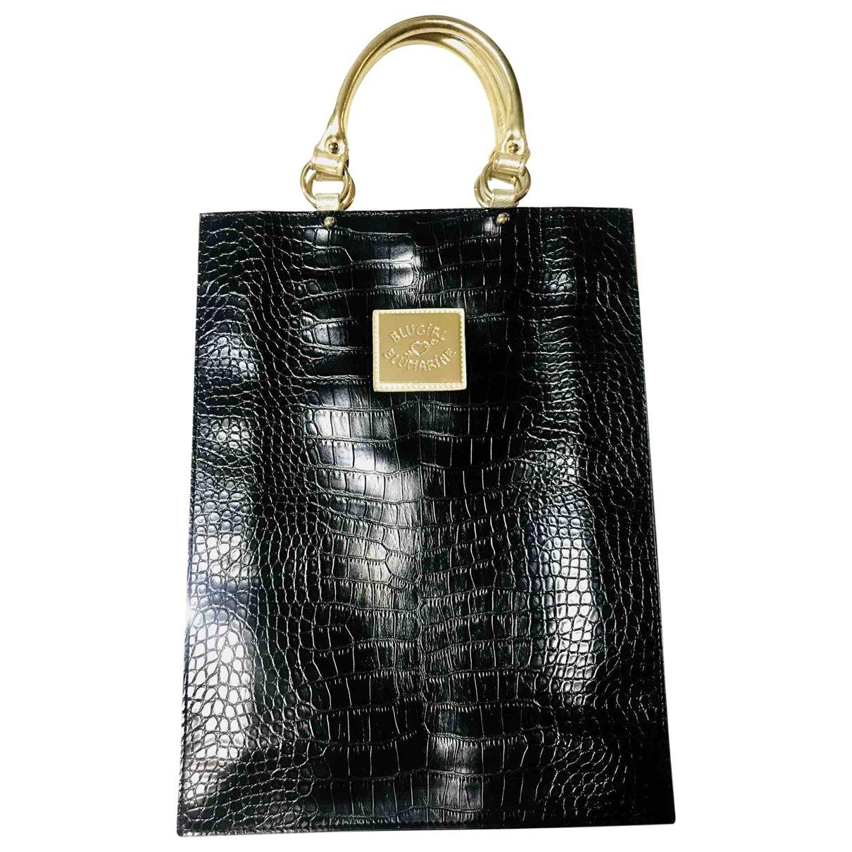 Blumarine \N Handtasche in  Schwarz Leder