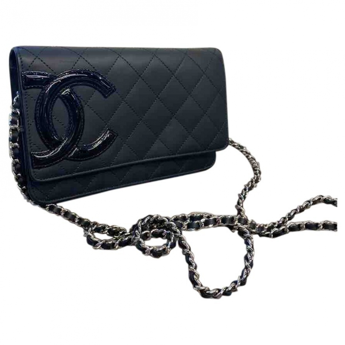 Chanel Cambon Black Leather Clutch bag for Women \N
