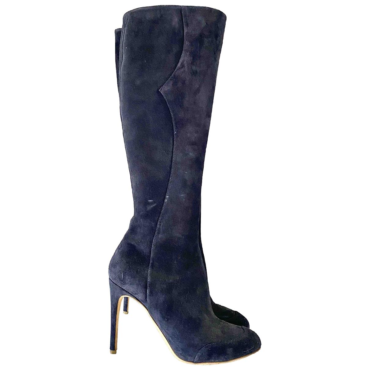 Rupert Sanderson \N Navy Suede Boots for Women 39 EU