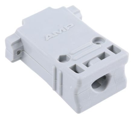 TE Connectivity , Amplimite HD-20 Thermoplastic D-sub Connector Backshell, 15 Way, Grey