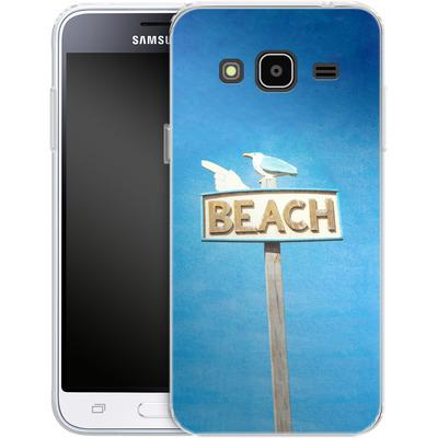 Samsung Galaxy J3 (2016) Silikon Handyhuelle - Beach von Joy StClaire