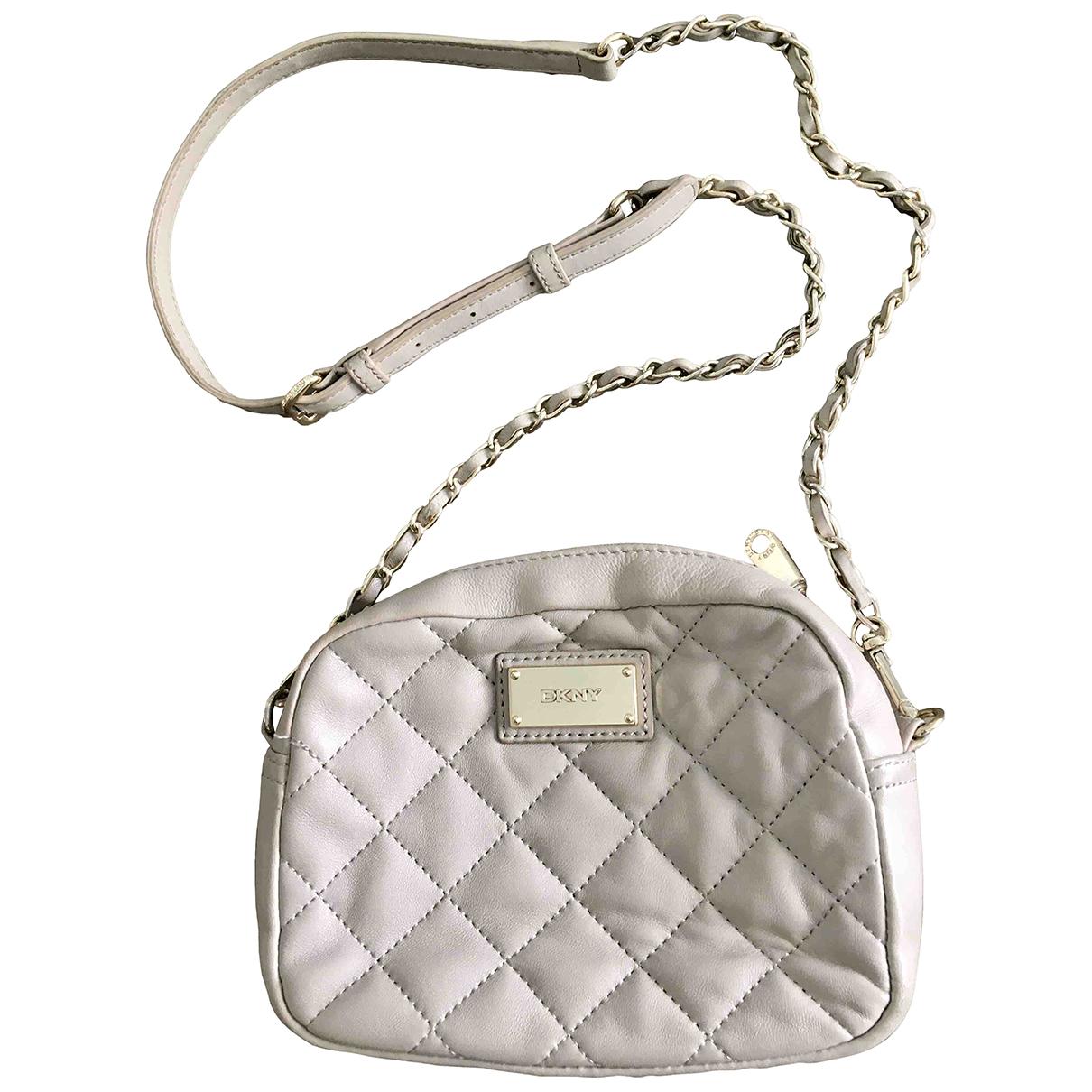 Dkny \N Handtasche in  Grau Leder