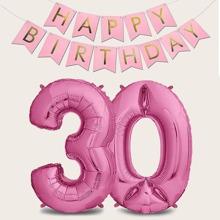1set 30th Birthday Balloon & Pull Flag