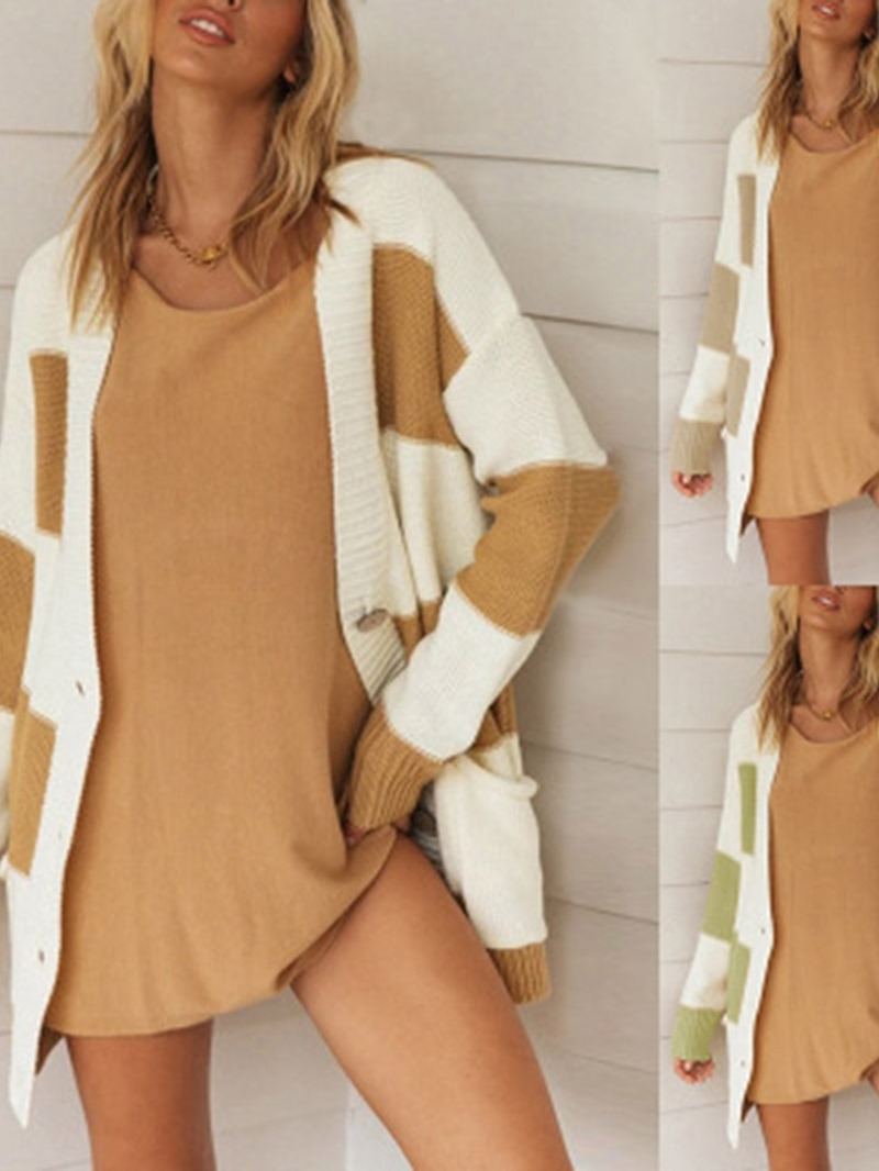 Ericdress Thin Single-Breasted Regular Mid-Length Long Sleeve Sweater