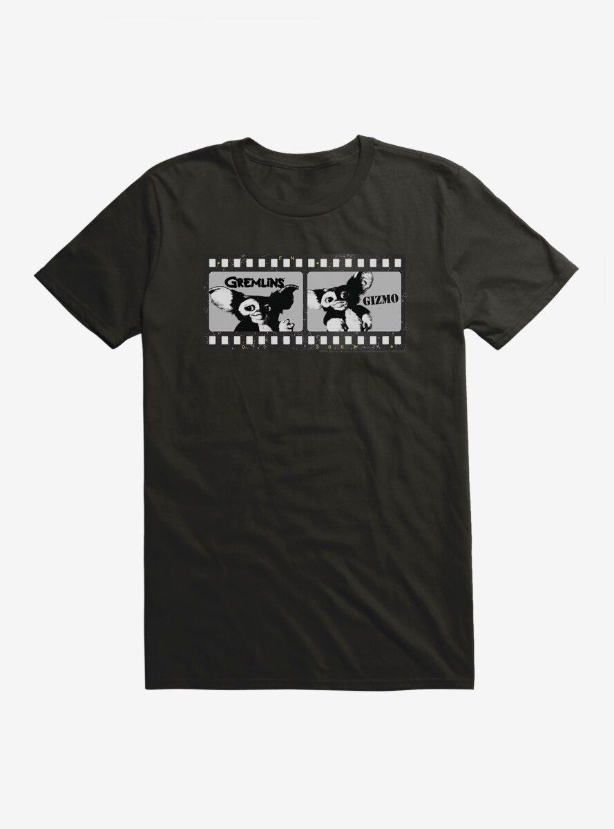 Gremlins Gizmo Film Strip Black And White T-Shirt