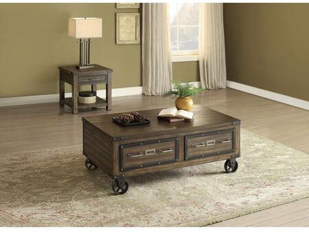 Kailas Collection 822820SET 2 PC Living Room Table Set with 48