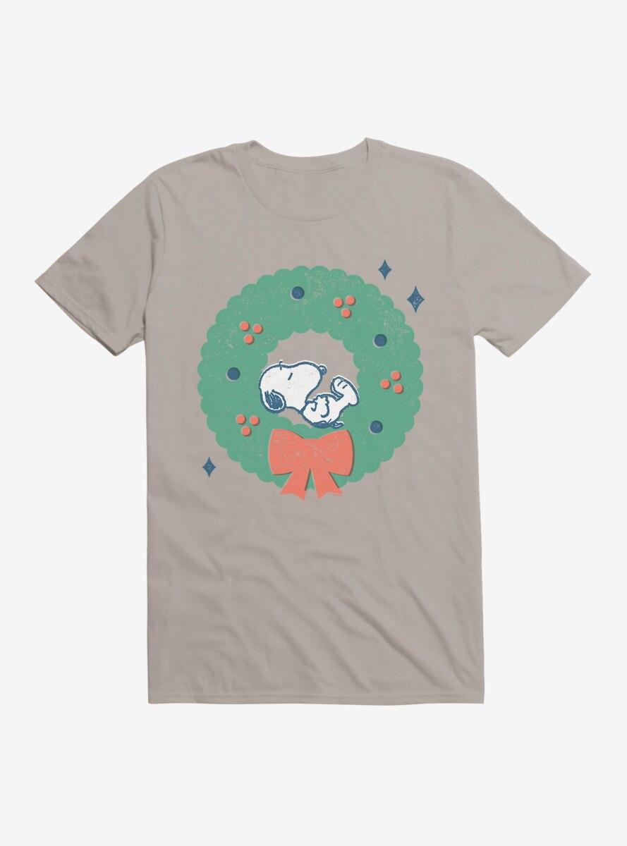Peanuts Retro Napping Snoopy Wreath T-Shirt