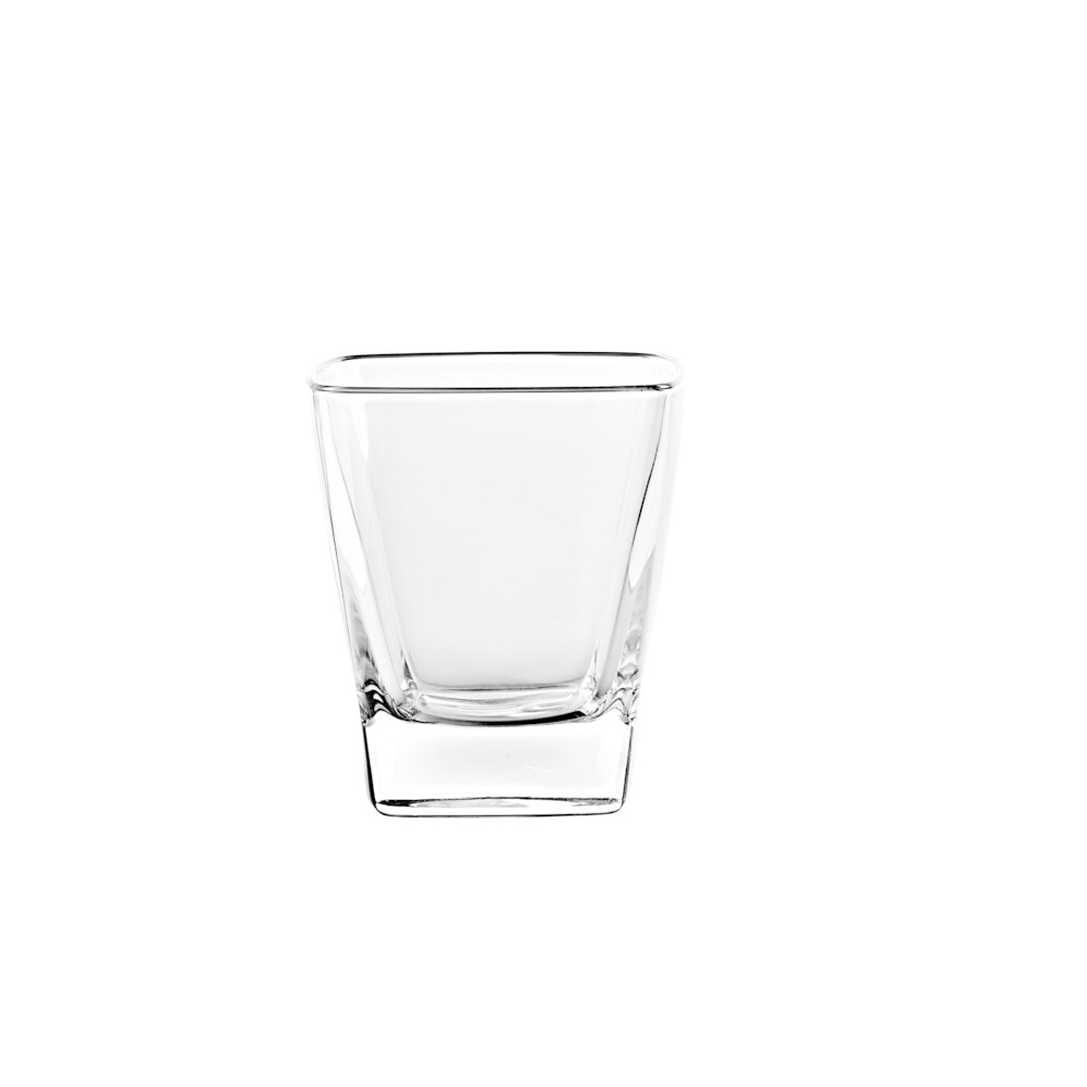 Majestic Gifts Glass D. O.F. Tumblers- Square -11 oz-Made in Europe S/6