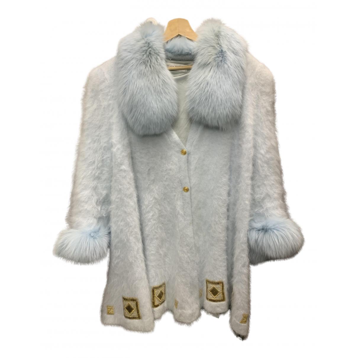 - Veste Oversize pour femme en renard - turquoise