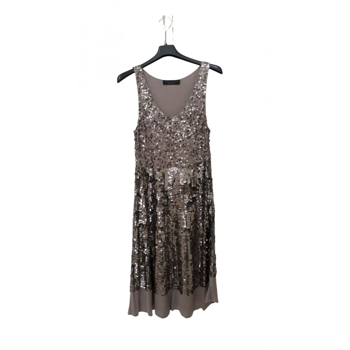 Twin Set \N Kleid in  Metallic Mit Pailletten