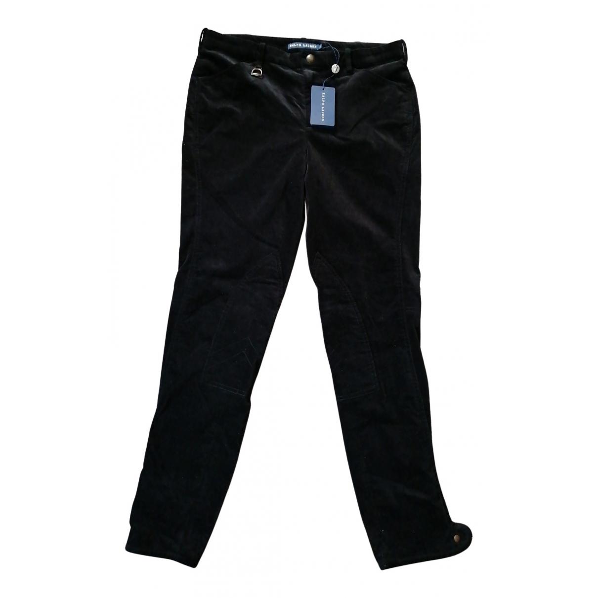Ralph Lauren N Black Velvet Trousers for Women 40 FR