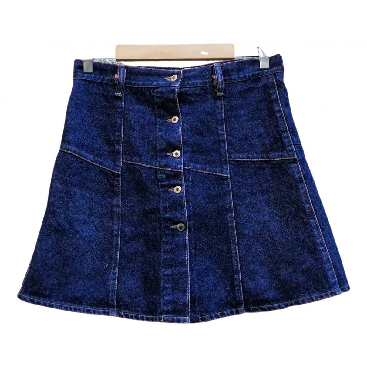- Jupe   pour femme en coton - bleu