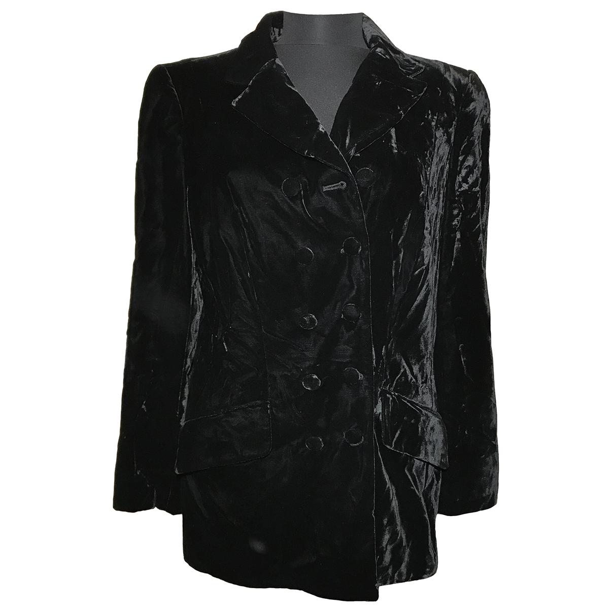 Rena Lange \N Black Velvet jacket for Women 42 FR