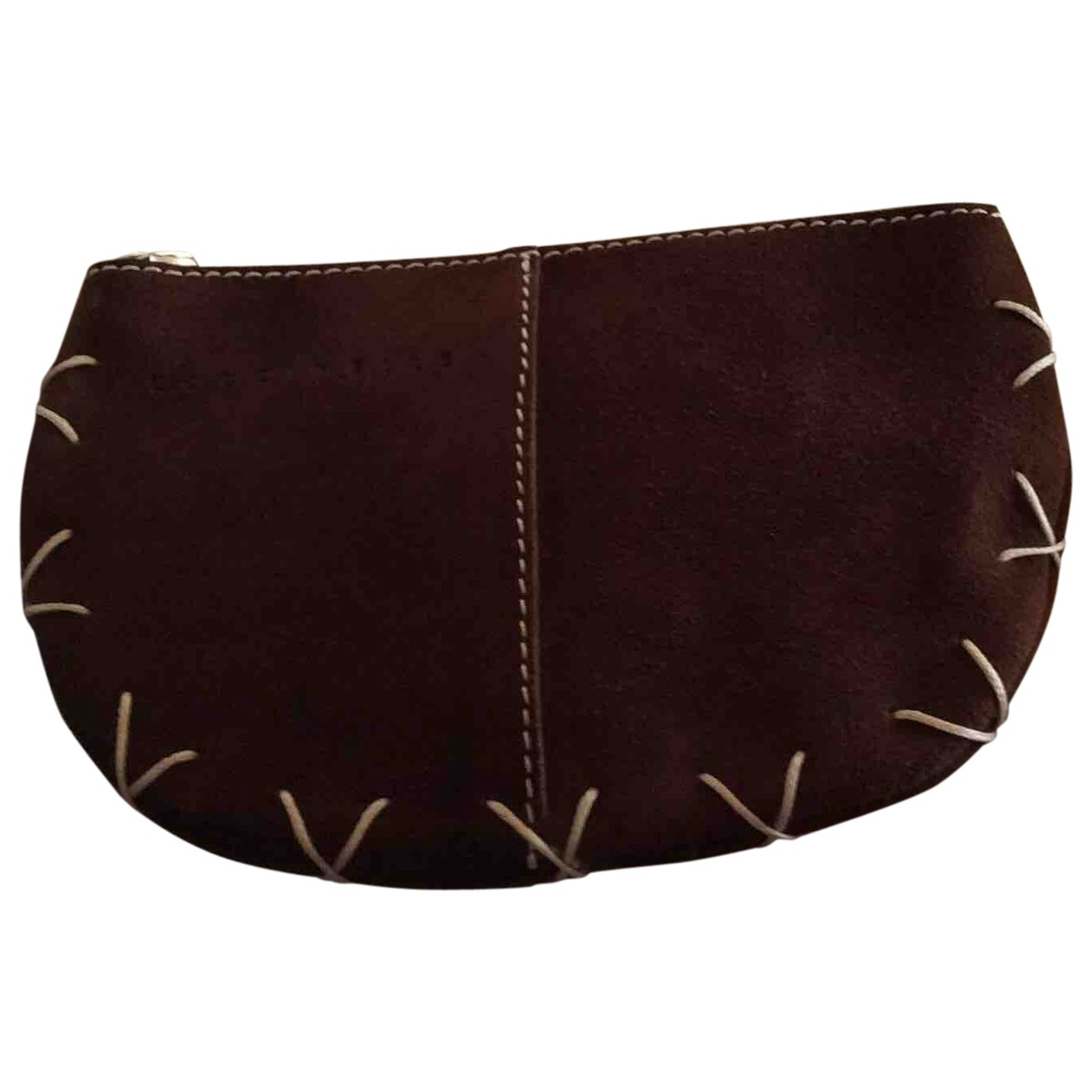 Coccinelle \N Brown Suede Clutch bag for Women \N