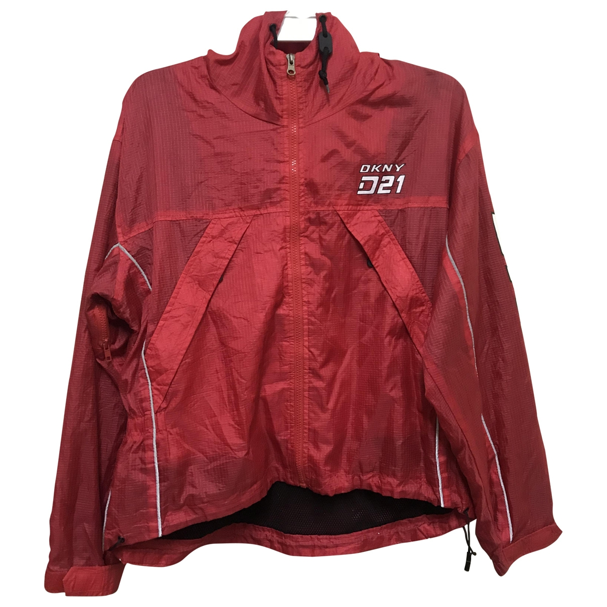 Dkny \N Jacke in  Rot Polyester