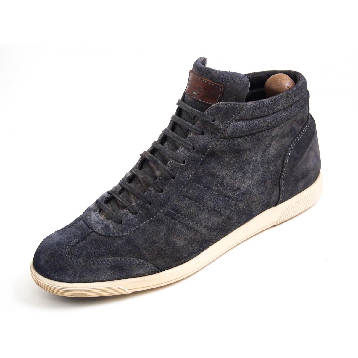 Santoni \N Sneakers in  Grau Veloursleder