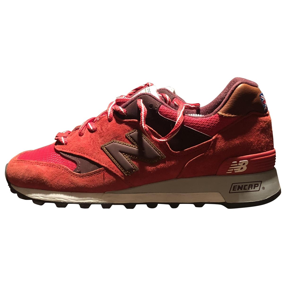 New Balance - Baskets   pour homme en cuir - rouge