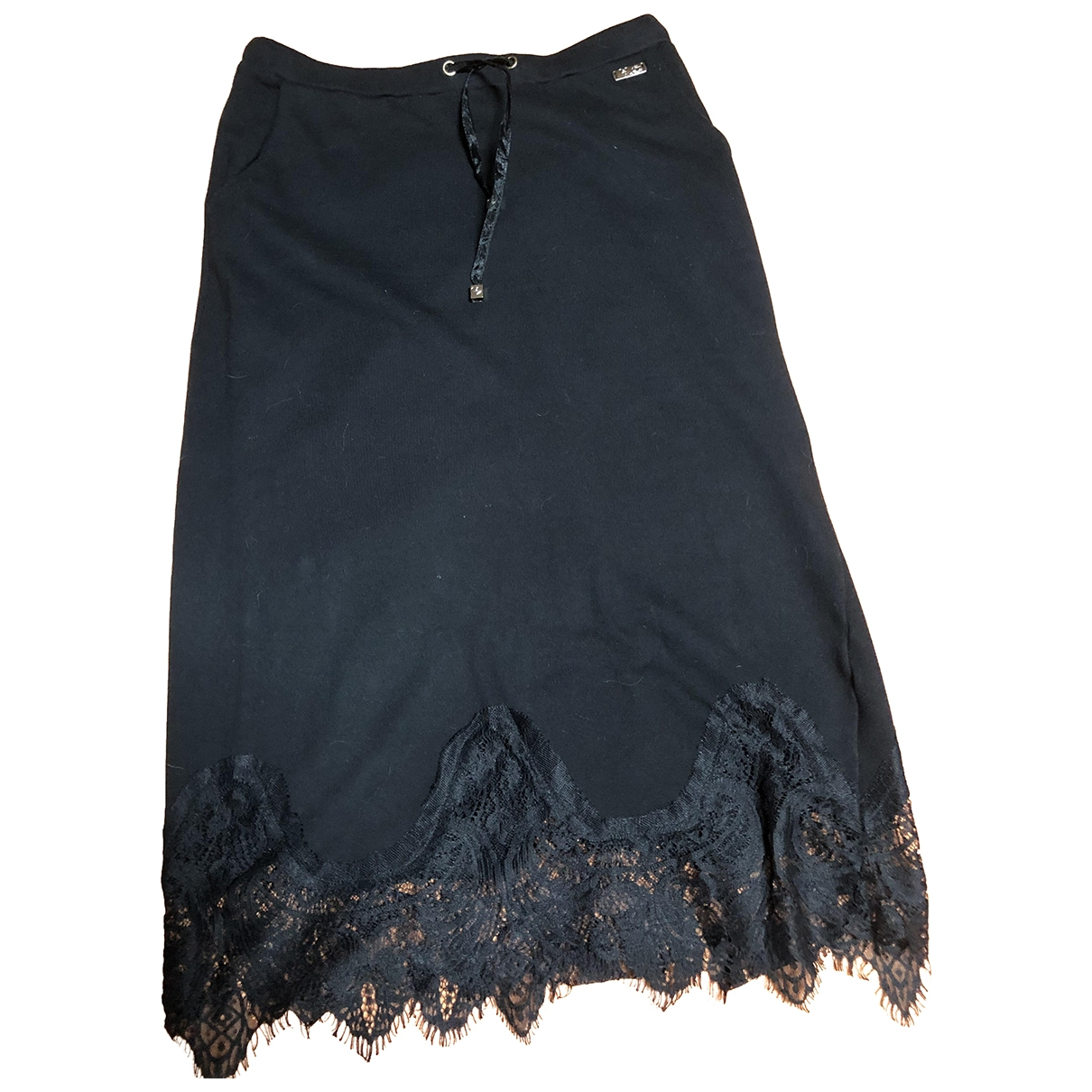 Twin Set \N Black Cotton skirt for Women 42 IT