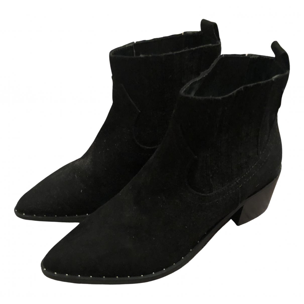 Miss Selfridge N Black Suede Boots for Women 36 EU