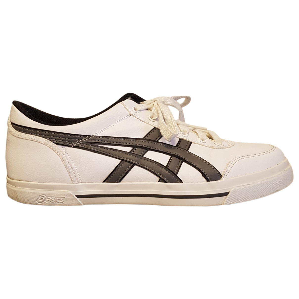 Asics \N White Leather Trainers for Men 41.5 EU