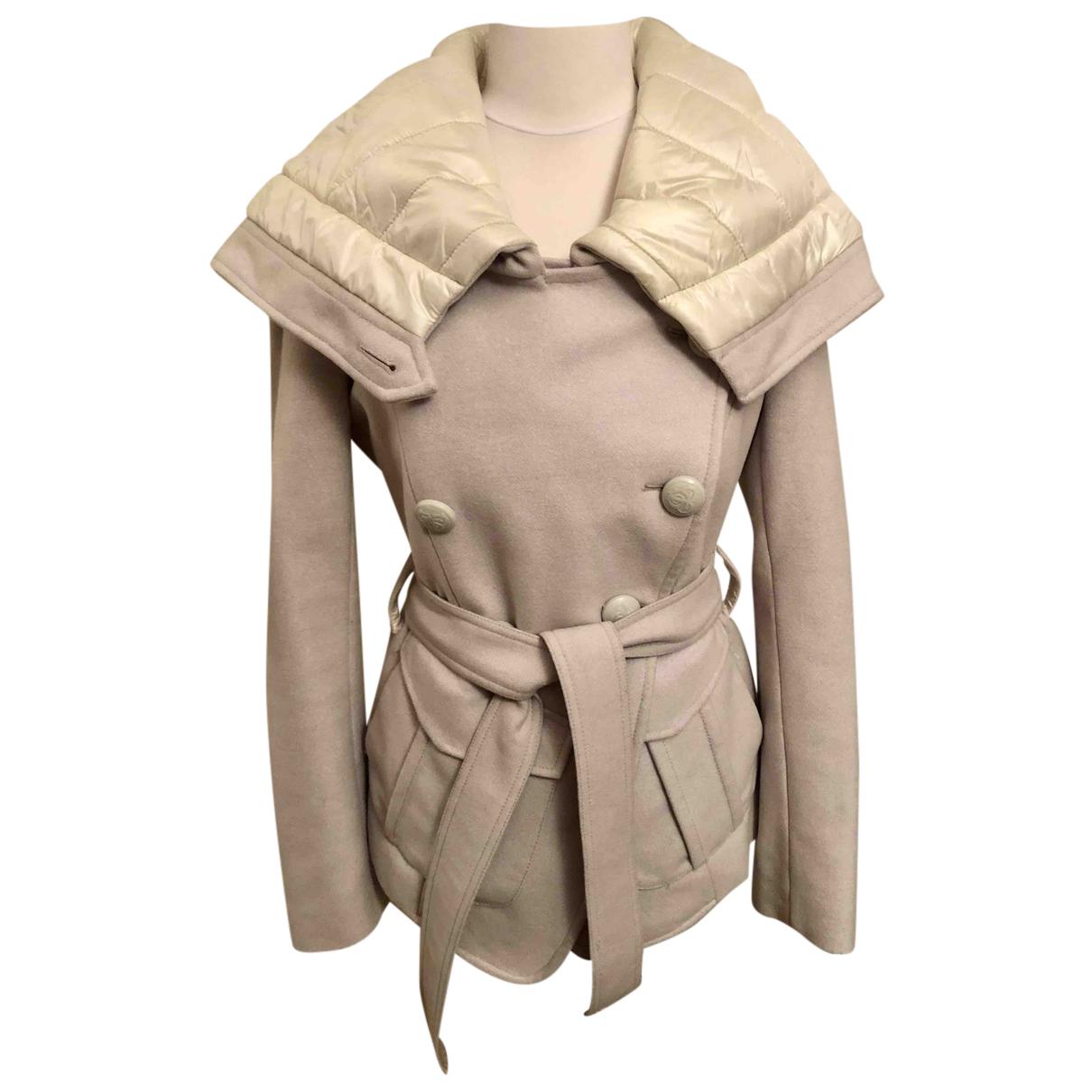 Pinko - Blouson   pour femme en laine - ecru