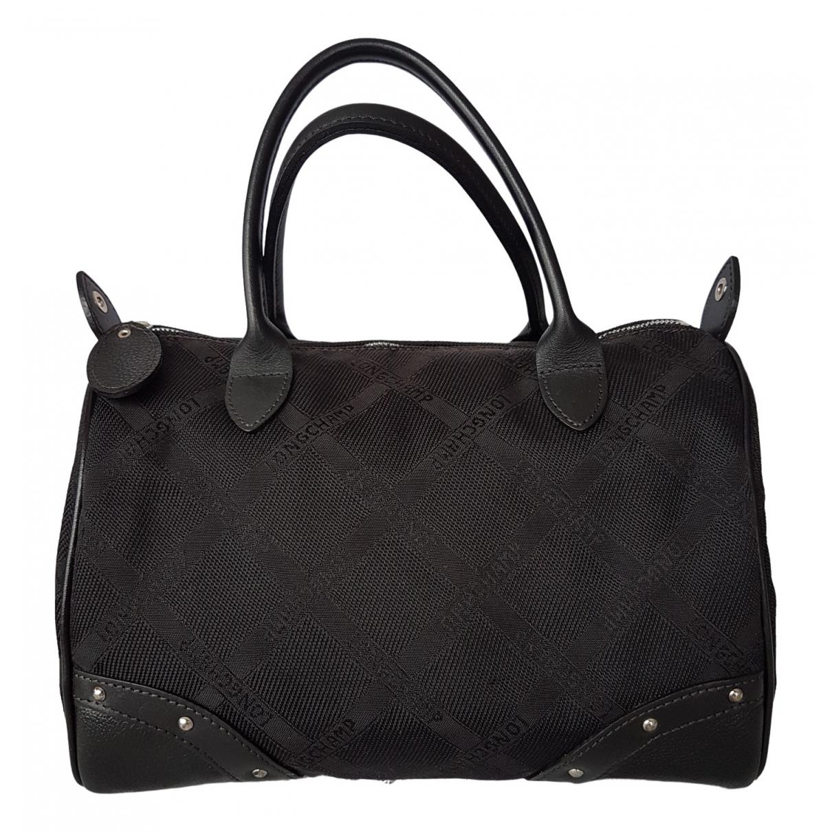 Longchamp - Sac a main   pour femme en toile - noir