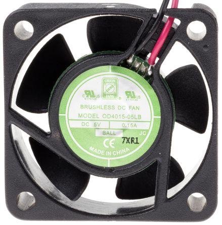 RS PRO , 5 V dc, DC Axial Fan, 40 x 40 x 15mm, 11.5m³/h, 1.5W, IP55