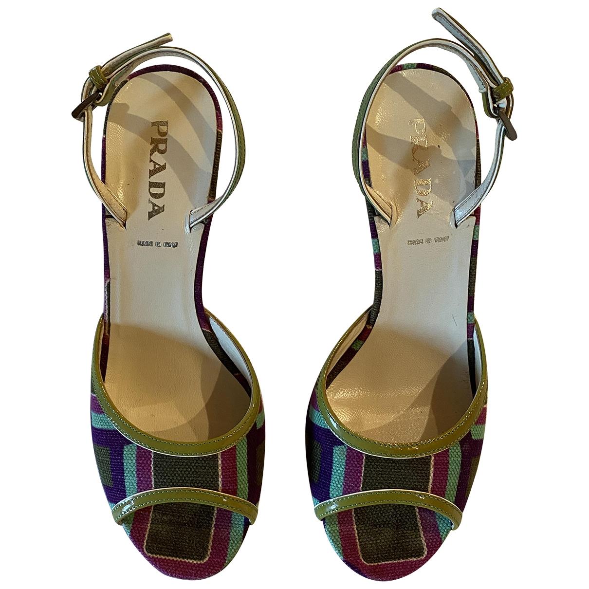 Prada \N Multicolour Leather Sandals for Women 37 EU
