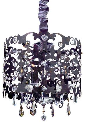 10247-007-FR001 Bizet 4-Light Chandelier with Black Pearl Contemporary Style  120V in Black Pearl Finish in