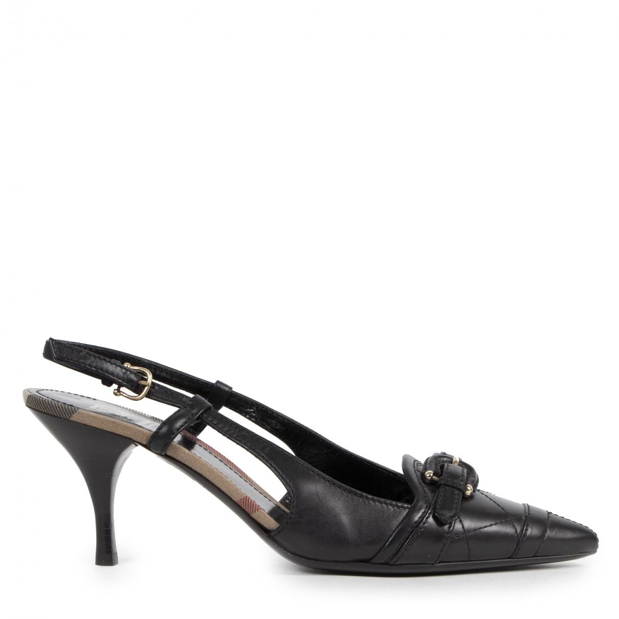 Burberry - Escarpins   pour femme en cuir - noir