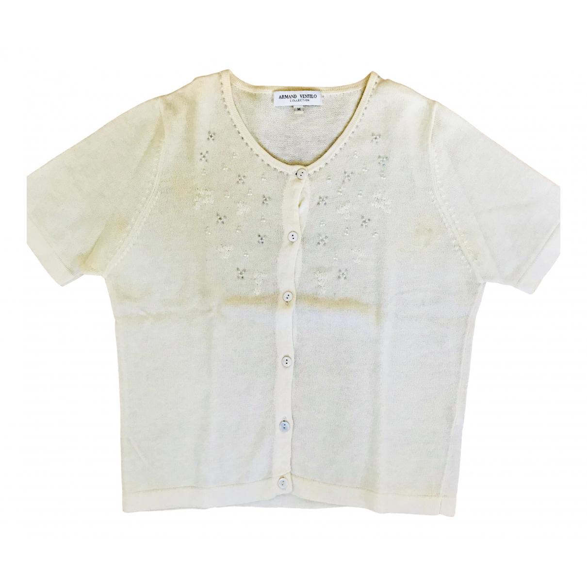 Non Signé / Unsigned \N Ecru Cotton Knitwear for Women M International