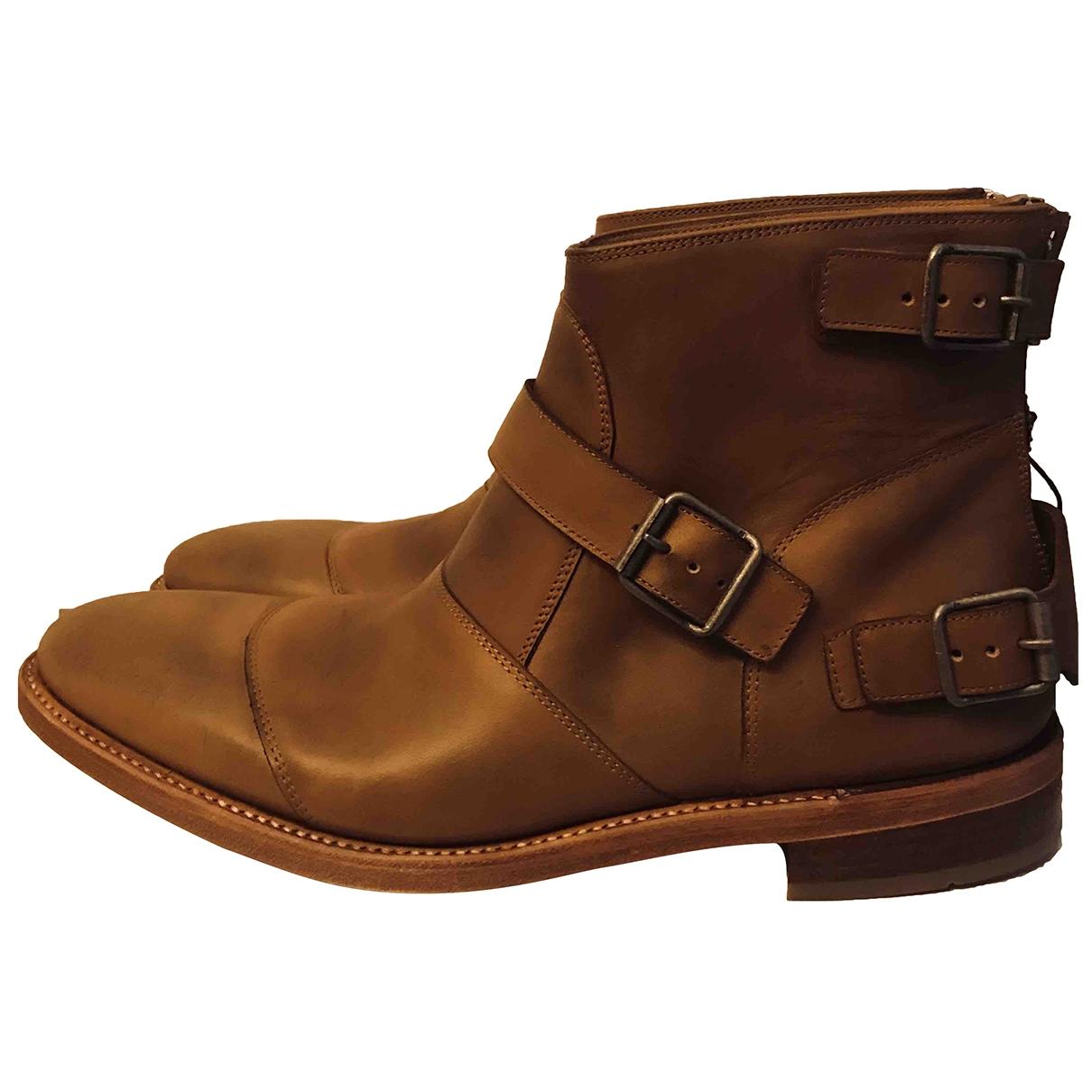 Balmain \N Stiefel in  Braun Leder