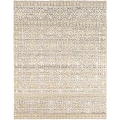 Nobility NBI-2303 10' x 14' Rectangle Traditional Rug in Tan  Khaki  White