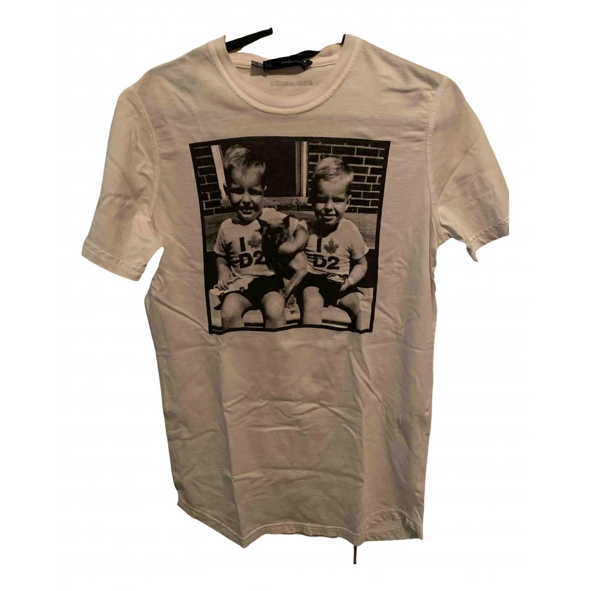 Dsquared2 N White Cotton T-shirts for Men M International