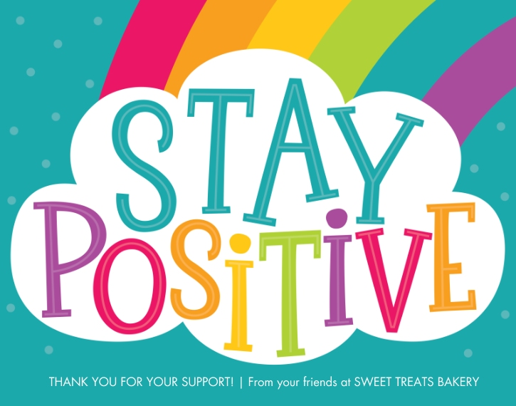COVID-19 11x14 Poster, Home Décor -Stay Positive