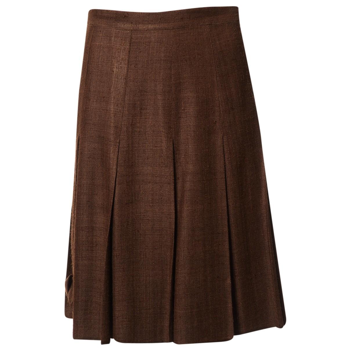 Falda midi de Seda Prada