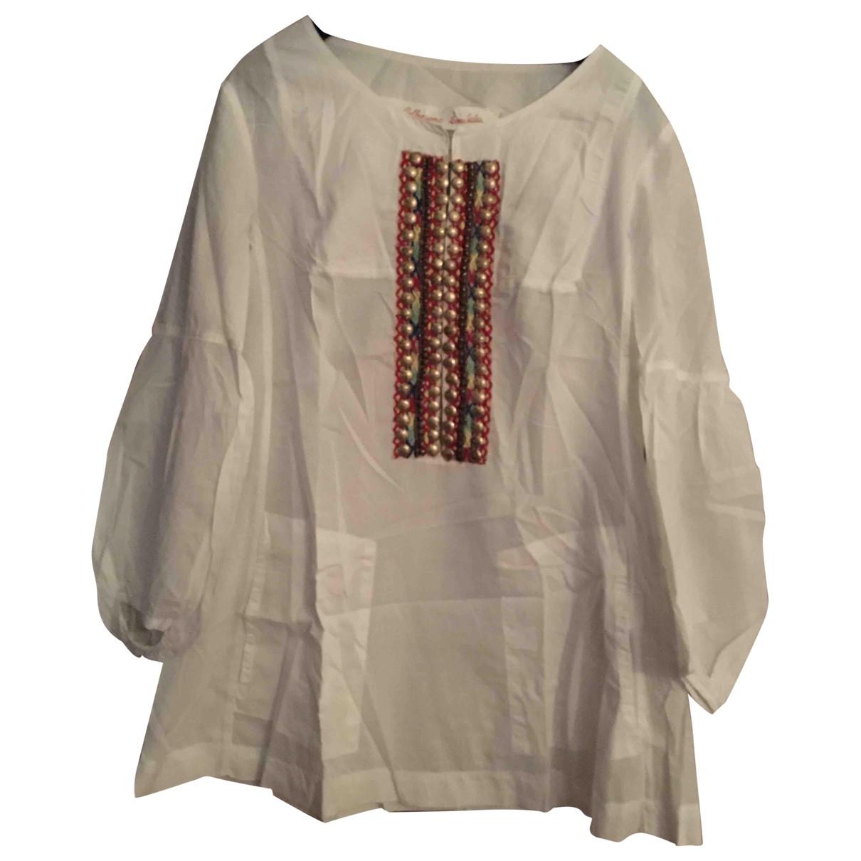 Dondup - Top   pour femme en coton - blanc