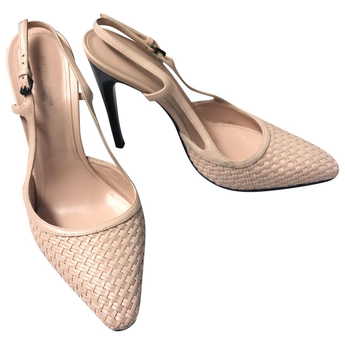 Bottega Veneta \N Pink Leather Heels for Women 38.5 EU