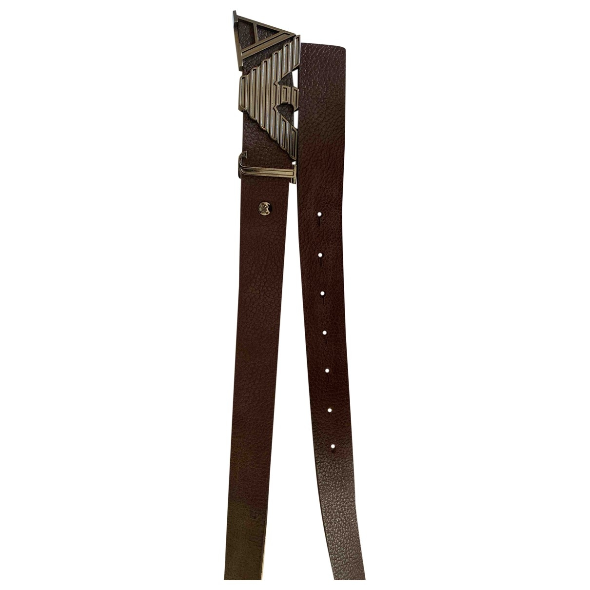 Armani Jeans \N Brown Leather belt for Men 85 cm