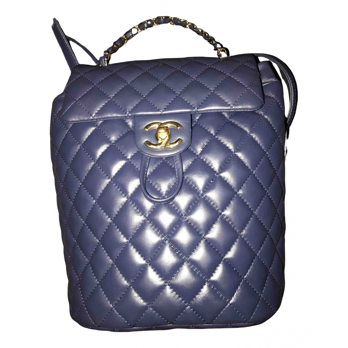 Chanel Timeless/Classique Blue Leather backpack for Women N
