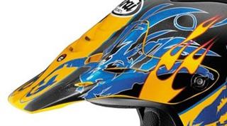 Arai VX-Pro3 Replacement Wingflame Yellow Blue Peak Visor