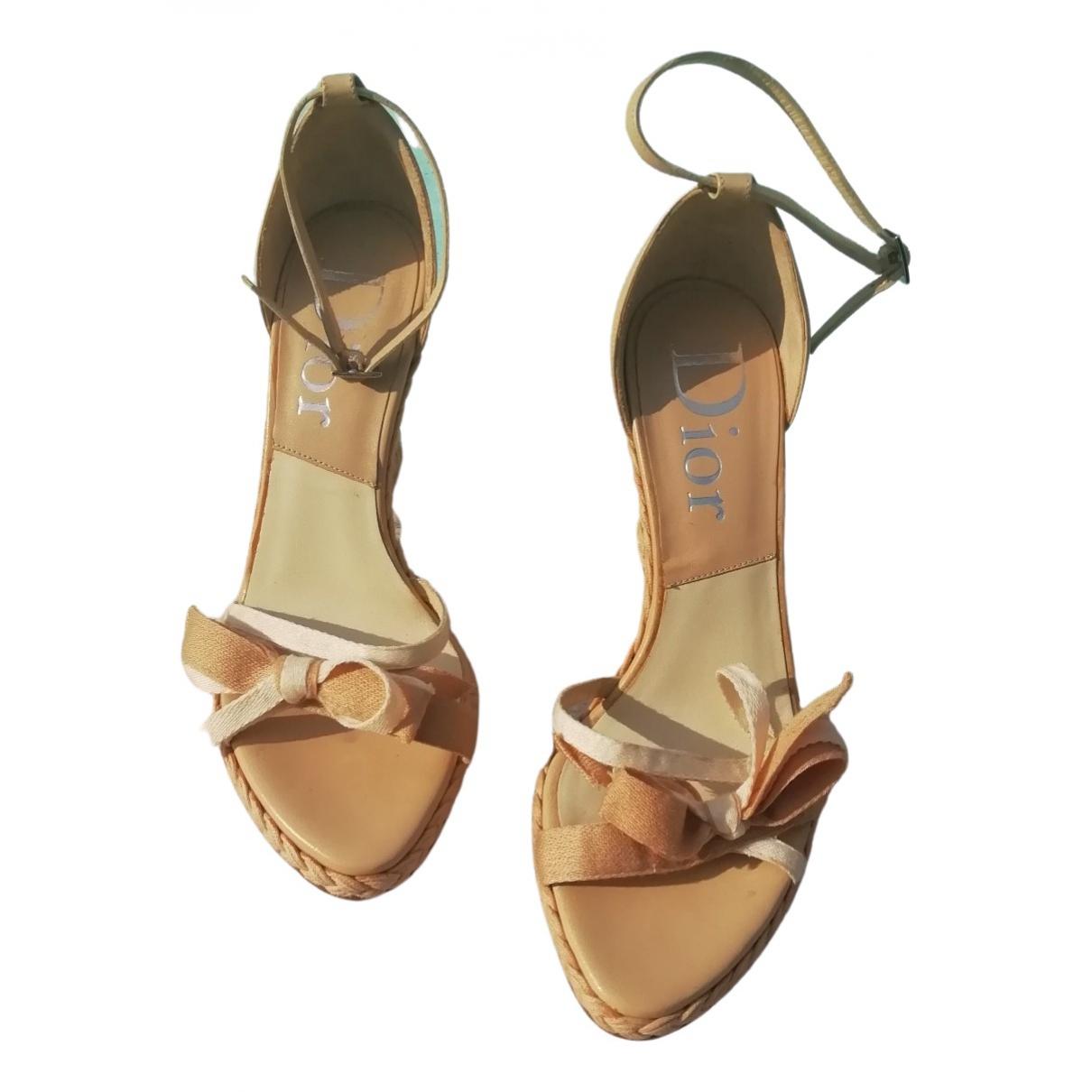 Dior \N Beige Leather Sandals for Women 36.5 EU