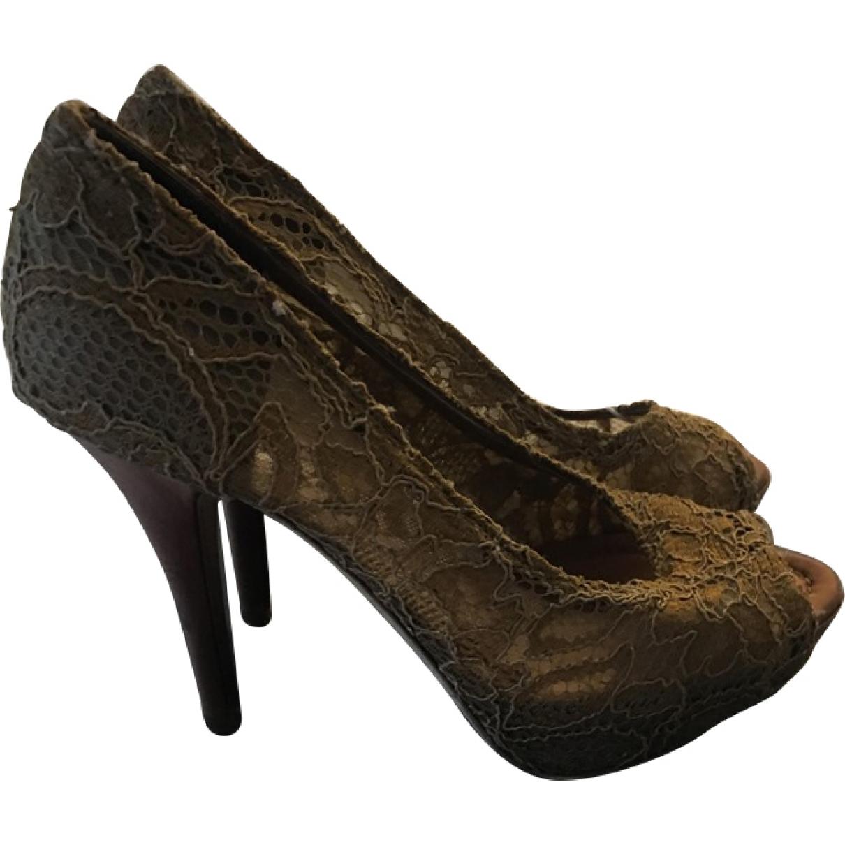 Dolce & Gabbana \N Brown Leather Heels for Women 38 EU
