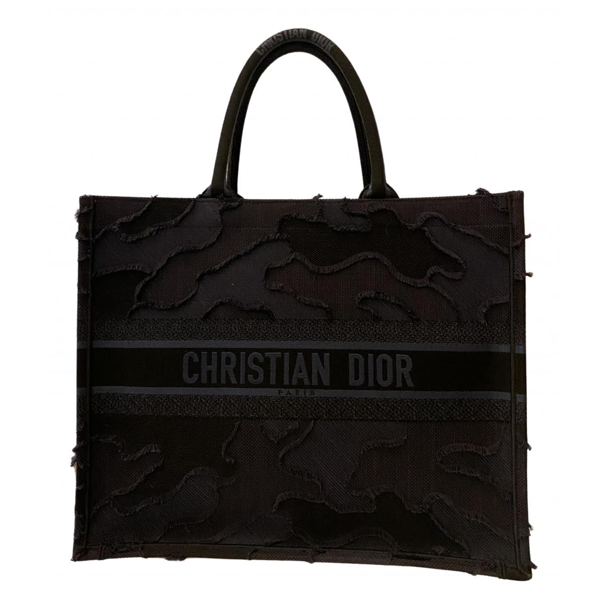 Dior Book Tote Navy Cloth handbag for Women N